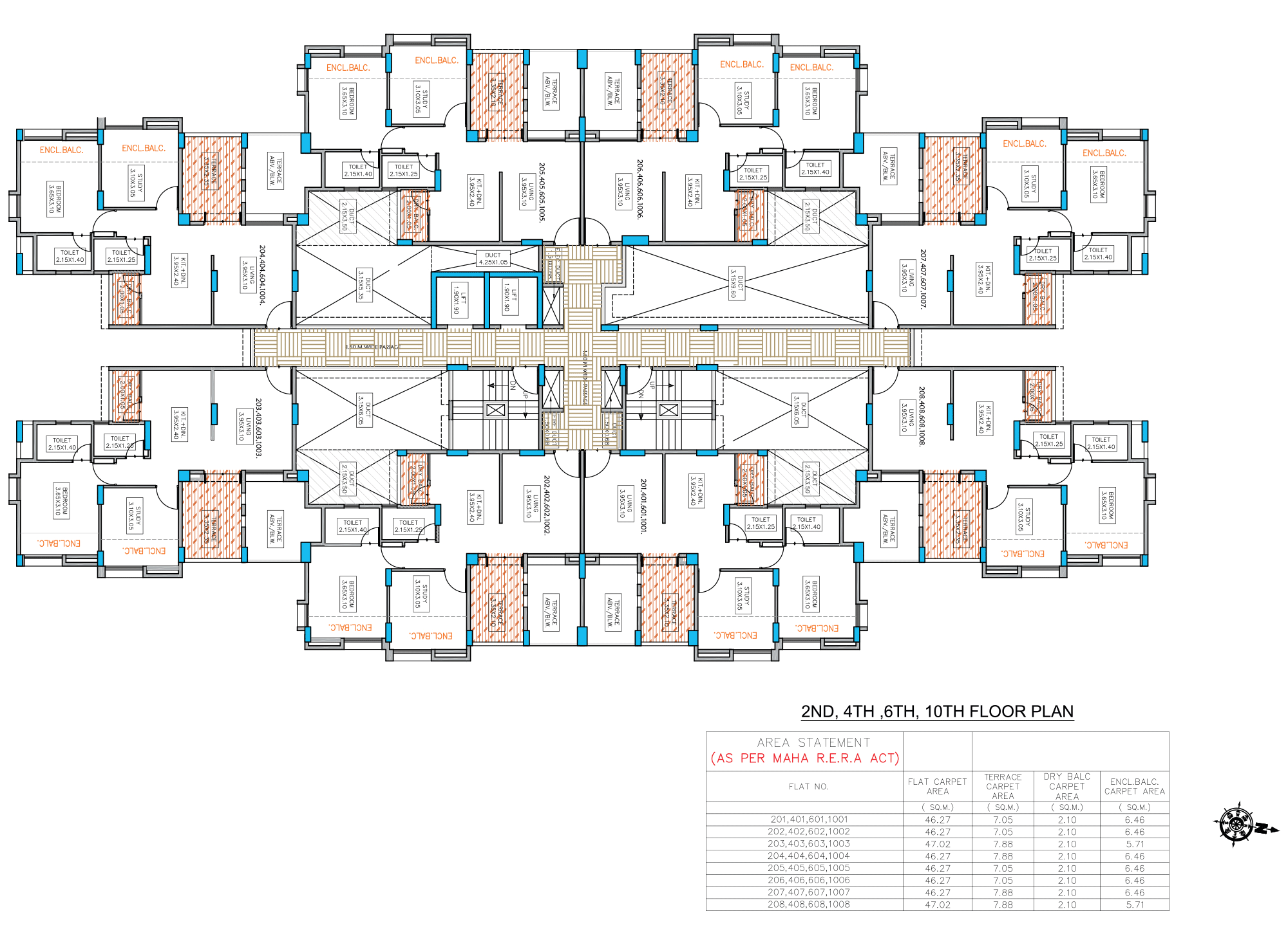 Neo City_Phase 1 E Type –2,4,6,10 FLOOR PLAN
