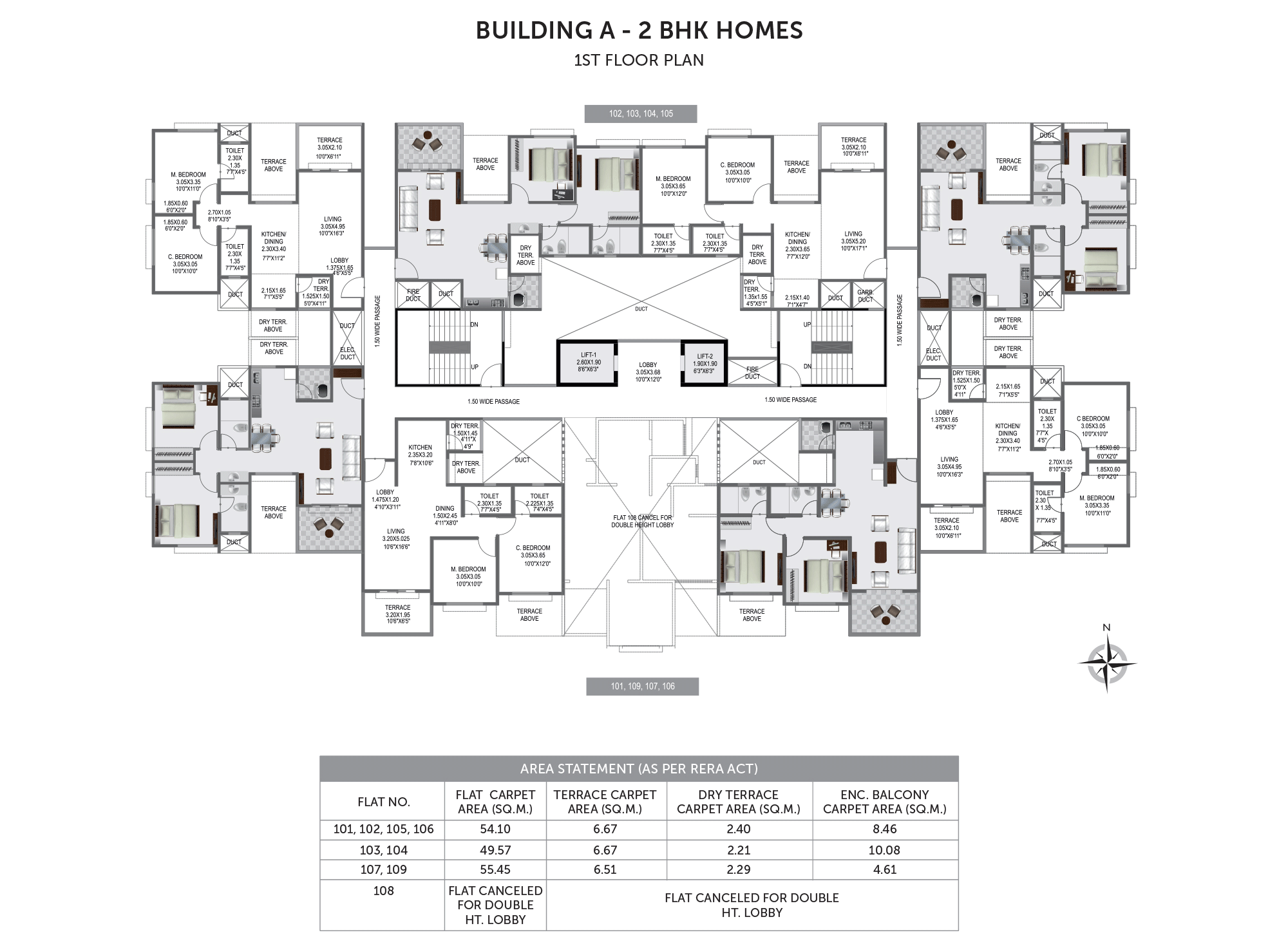 Pristine Prolife 3_Building B & C- 1ST FLOOR PLAN