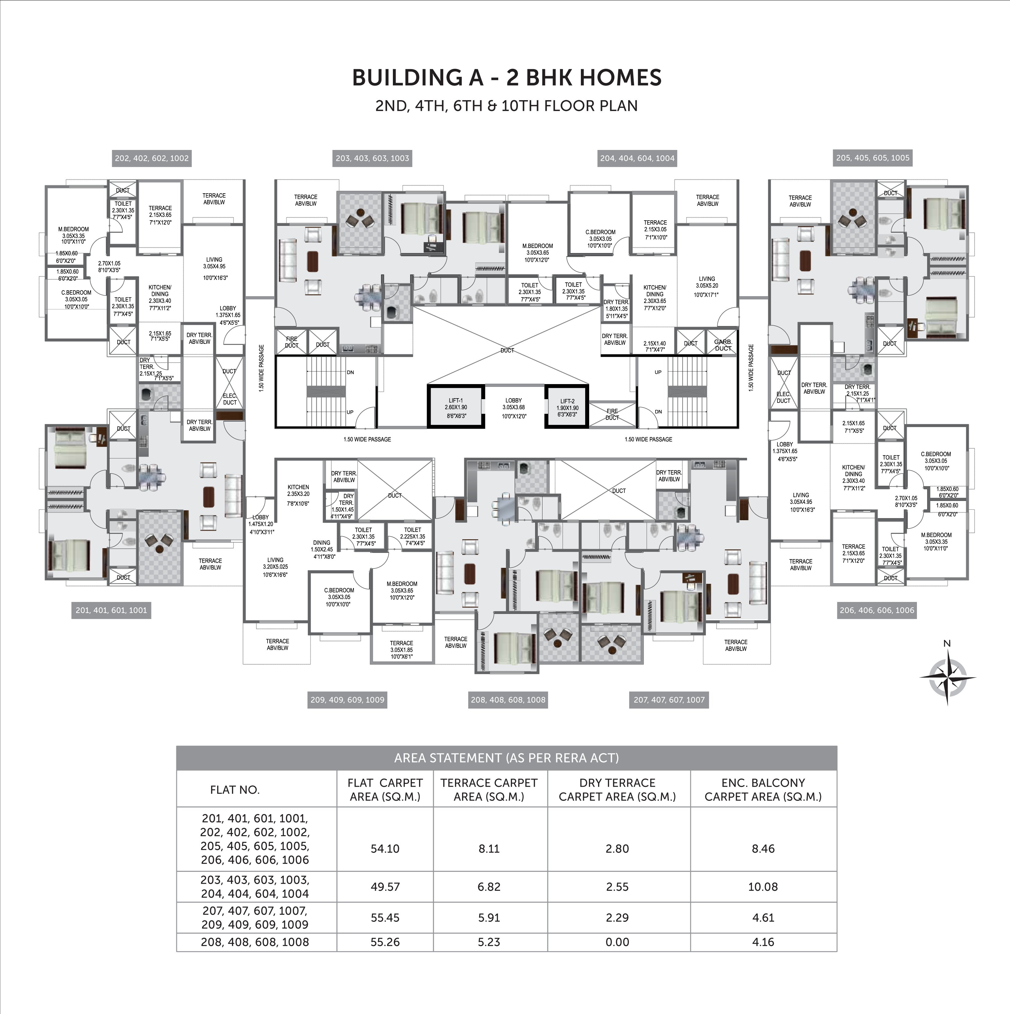 Pristine Prolife 3_Building A  - 2ND, 4TH, 6TH & 10TH FLOOR PLAN
