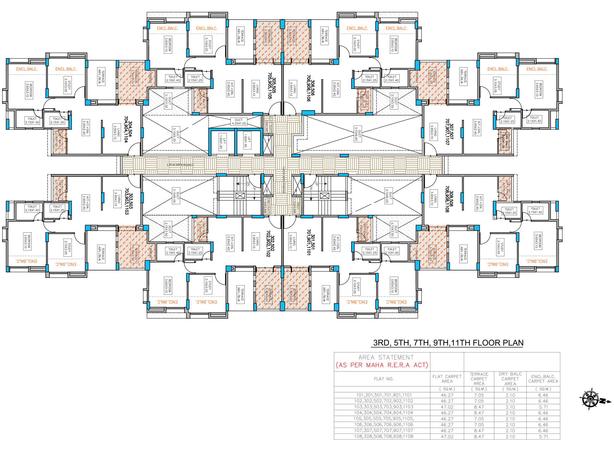 Neo City_Phase 1 E Type –3,5,7,9,11 FLOOR PLAN